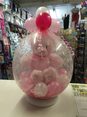 Pink Bear In Balloon