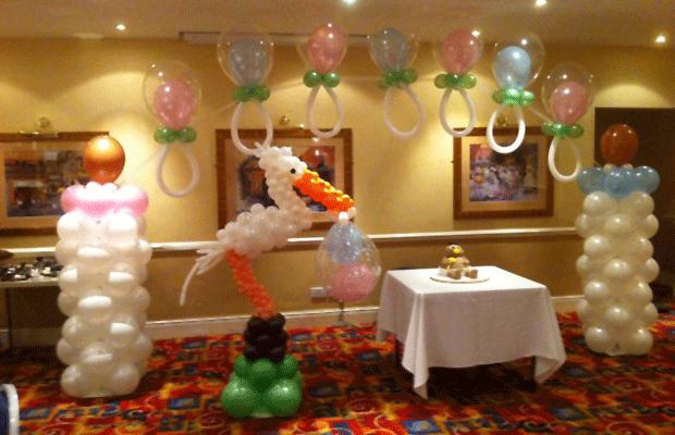 Bloomers balloons party shop bolton lancashire balloon stork junglespirit Choice Image