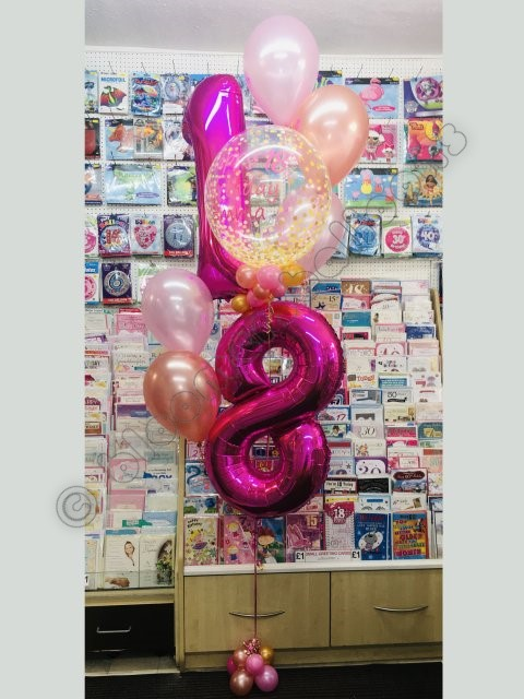 18th linked numbers display with bubble