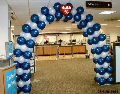 Arch framing Barclays customer service entrance
